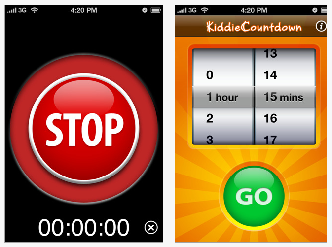 Kiddie Countdown Activity Timer App | OT's with Apps