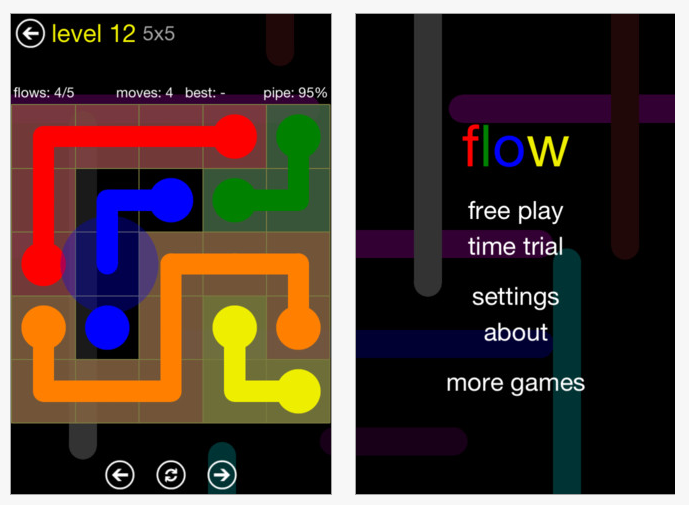 free flow game online
