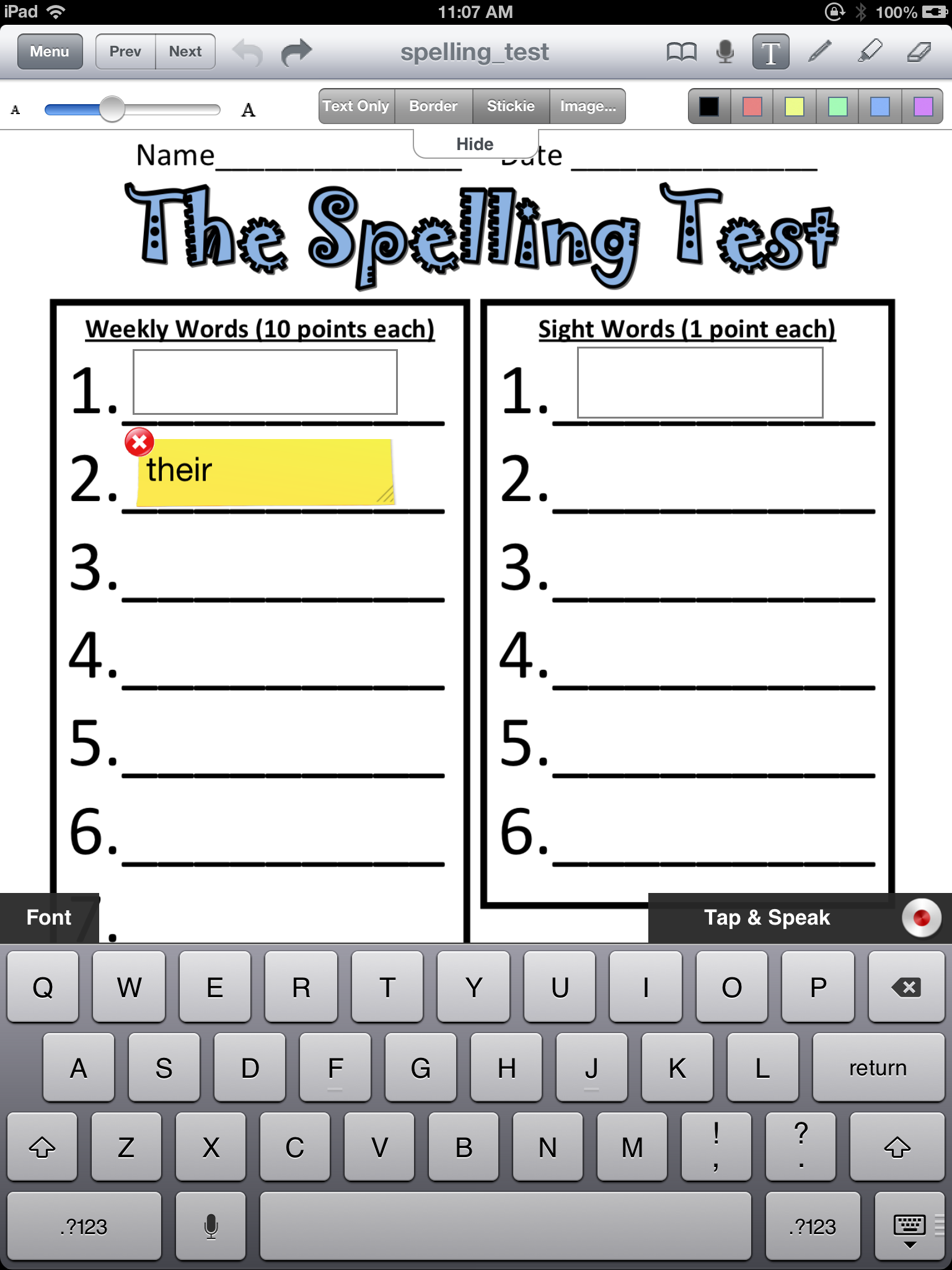 Adapting Worksheets for Students with Poor Handwriting ...