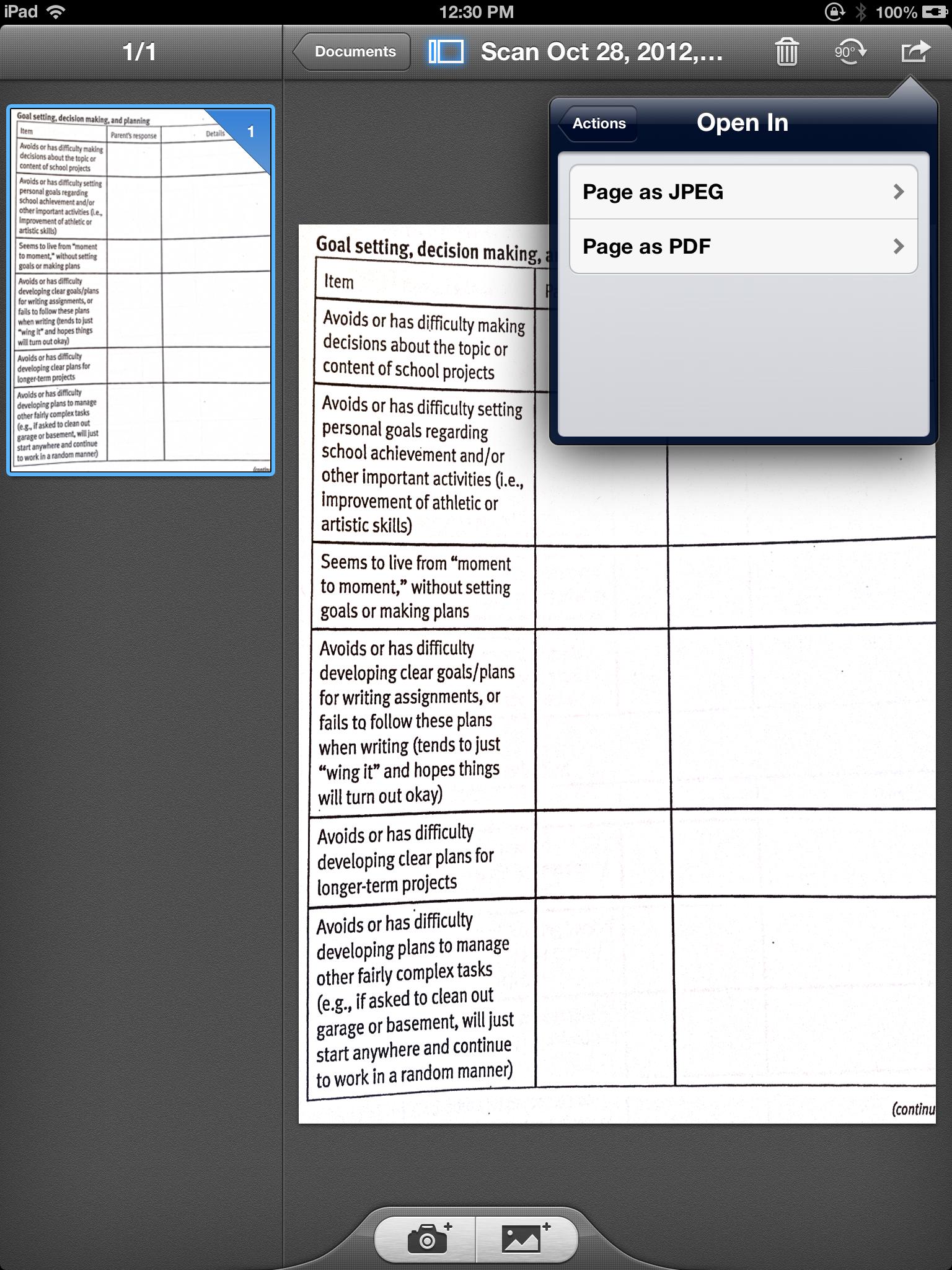 scan microsoft 10 pdf files