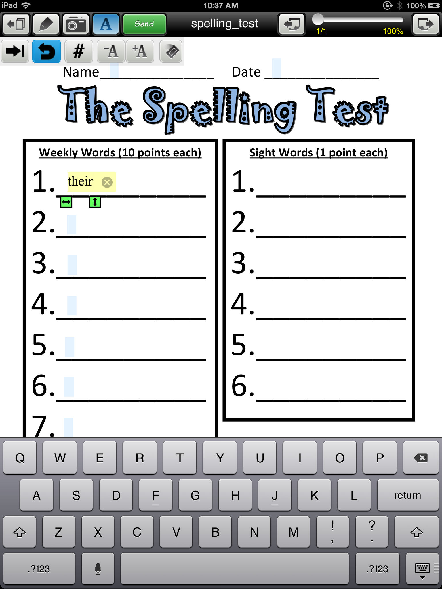 worksheet Keyboarding Worksheets adapting worksheets for students with poor handwriting using your completed