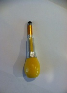 finished yellow stylus