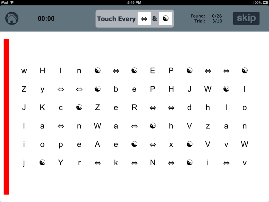 Visual Attention App By Tactus on Number Sequence Worksheets
