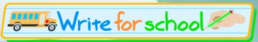 Write for school logo