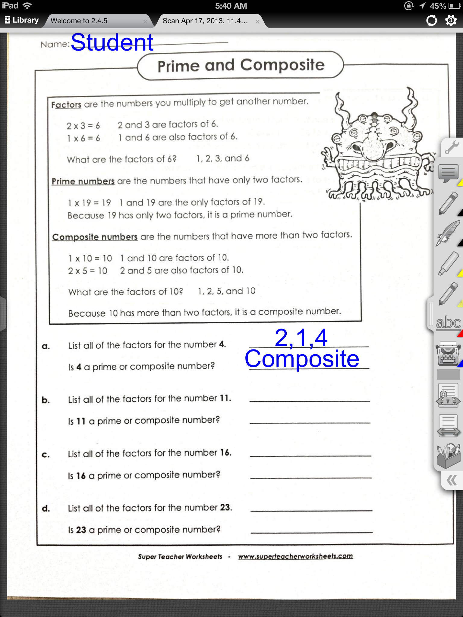 Teacher S Worksheets : Iannotate app on sale for teacher appreciation week ot s
