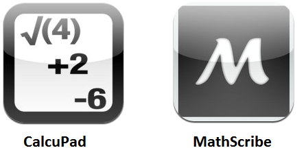 Math apps CalcuPad Mathscribe