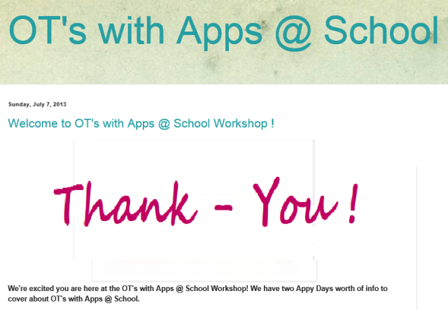 OT's with apps at school Thank you 2