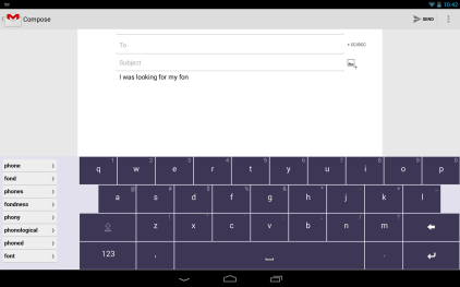 Texthelp Android keyboard pic1