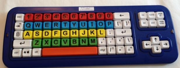 Big blue keyboard