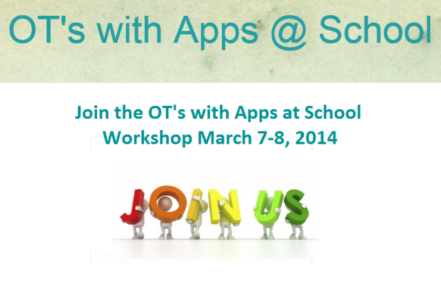 OT's with apps at school join us pic