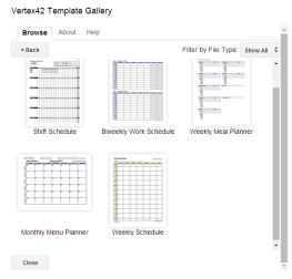 Google Template Gallery Schedules pic