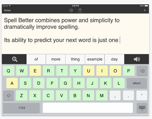Spell Better – A Free Word Prediction App   OT's with Apps