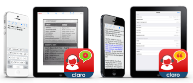 ClaroSpeak apps pic