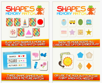 Shapes Memory Match pic1