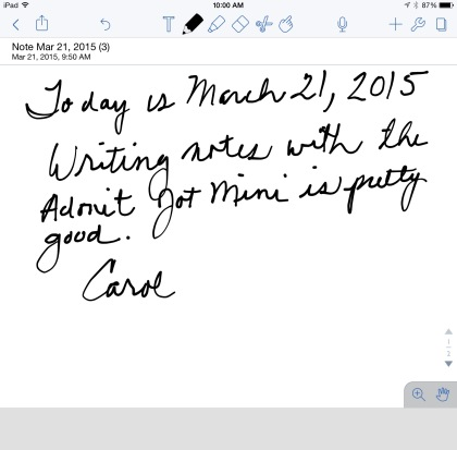 Adonit jot mini HW sample iPad c
