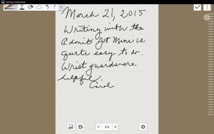adonit jot mini HW sample iPad