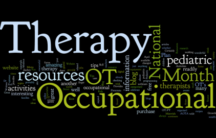 Occupational therapy month wordle