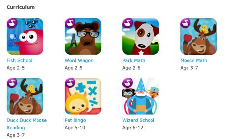Duck duck moose curriculum apps