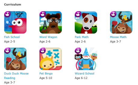 Duck duck moose curriculum apps